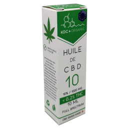 Huile de CBD 10% 0.2% THC...